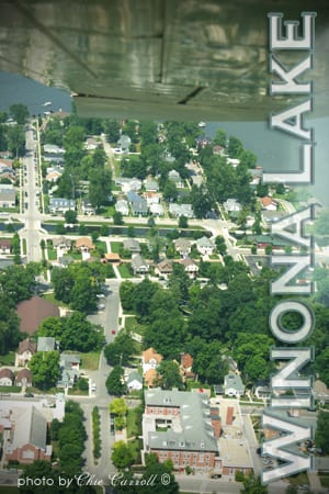 Winona Lake Indiana Aerial Photo